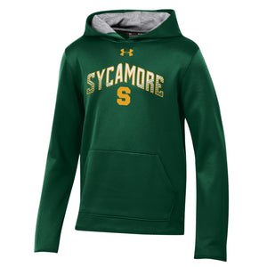 Youth Under Armour Cold Gear Hoodie - SYCAMORE Block S