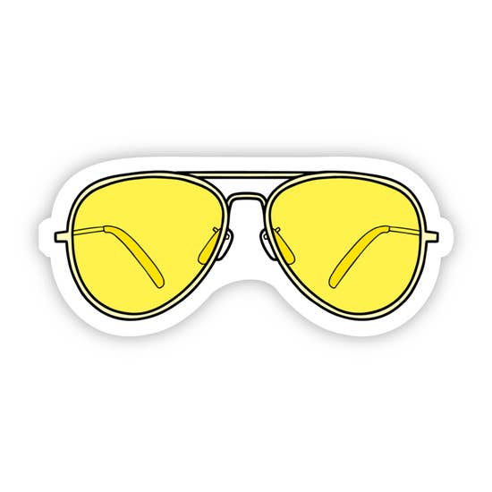 Big Moods Sticker - Aviator Sunglasses