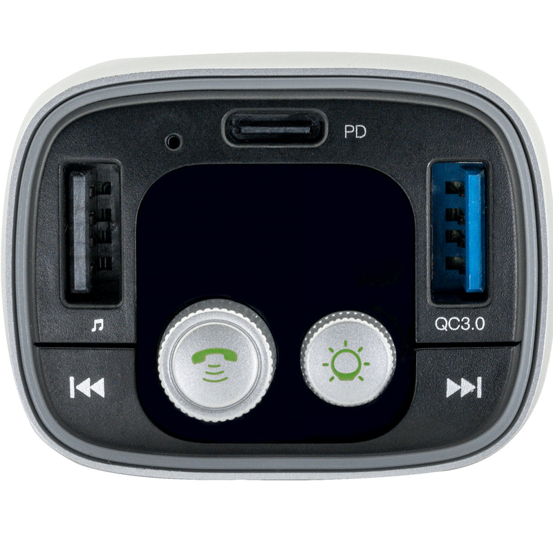 Vehicle Bluetooth 5.0 FM Transmitter for Music Streaming, Charging and Hands-Free Calling