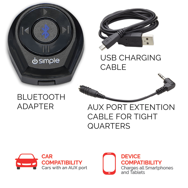 AUX Bluetooth Adapter for Music Streaming