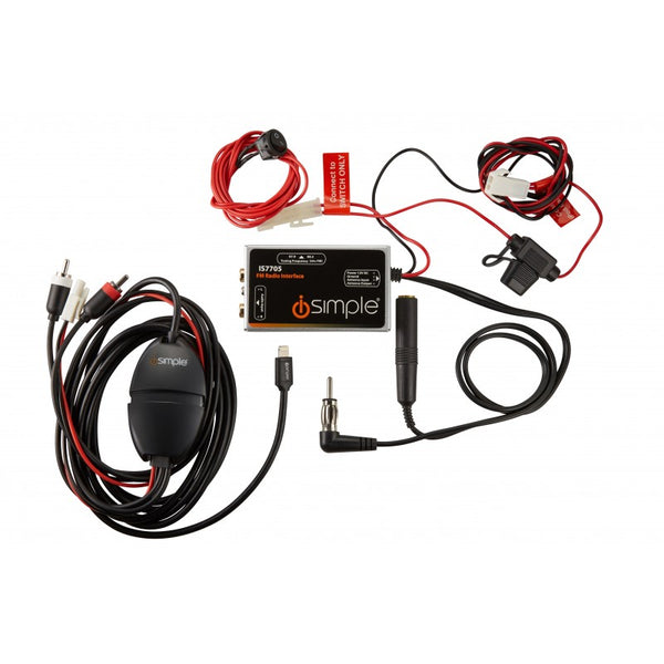 Universal Car Kit with Audio Playback and Charging for Apple Devices with Lightning Connector