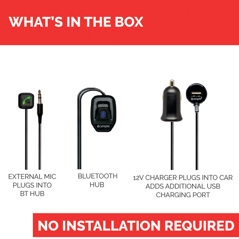 Bluetooth Vehicle Kit for Hands-Free Calling & Music Streaming