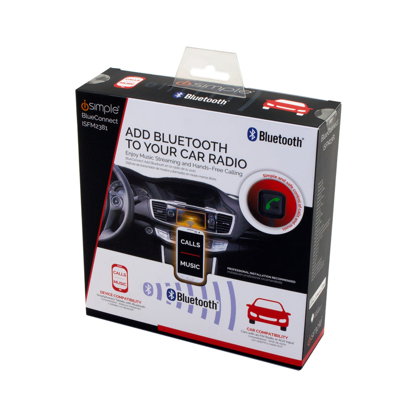 BlueConnect, Install Kit for Hands-Free Calling and Music Streaming Through Your Car Radio