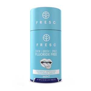 FRESC Toothpaste Tablets – 120-Piece Naturally Whitening: Mint