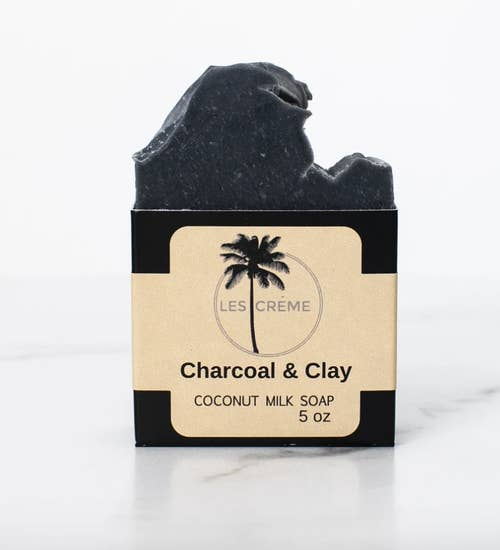 Charcoal and Clay Coconut Milk Soap