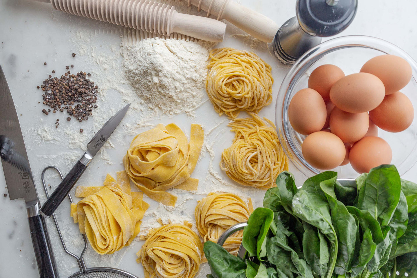 Delicious, fresh pasta at home