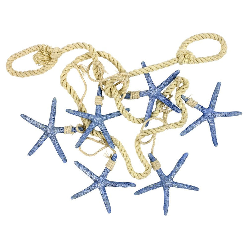 Vie Naturals Starfish Hanging D�cor, Six Starfish, Blue, 100cm