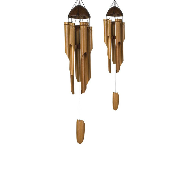 Vie Naturals Handmade Bamboo Wind Chimes, Set of 2 (Medium 40cm and Small 30cm)