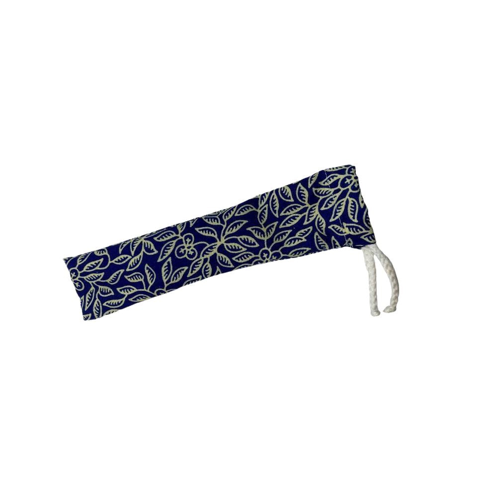 Vie Gourmet Batik Pouch for Bamboo Straws, Drinking Straws & Stirrers by Global 1st