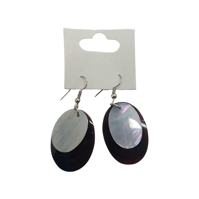 Vie Naturals Oval Seashell Earring