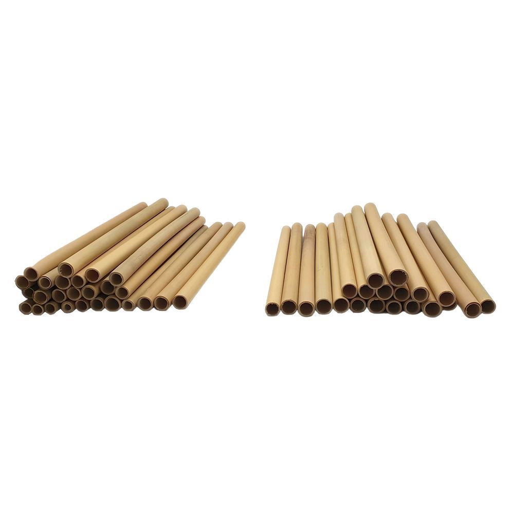 Vie Gourmet Bamboo Straws, 22cm, 100 pcs, Party & Celebration by Global 1st