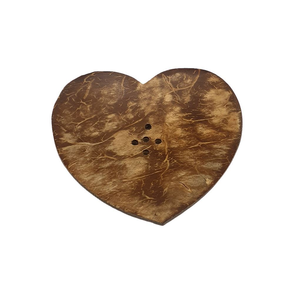 Vie Naturals Miniature Coconut Heart Soap Dish