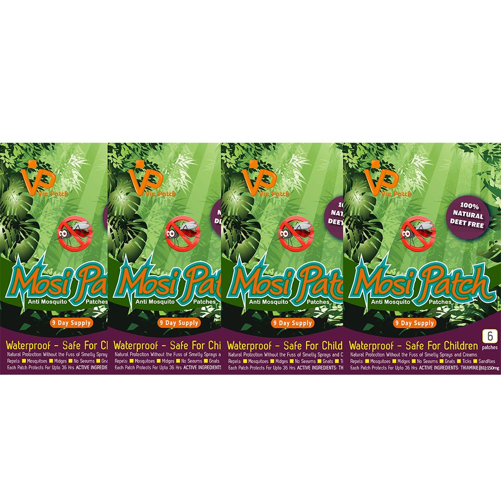 Vie Healthcare Mosi Patch, Anti-Mosquito, 6 Patches