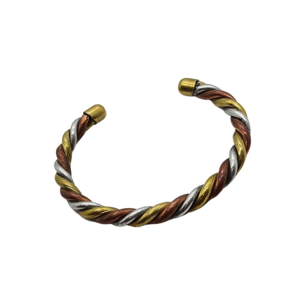 Vie Naturals Twisted Copper, Brass and Aluminium Bracelet by  Global 1st