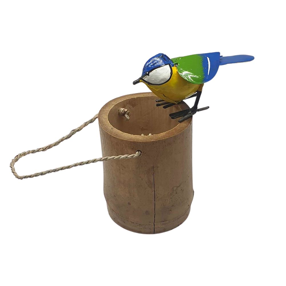 Vie Naturals Bird Feeder Simple, Bamboo, 10cm