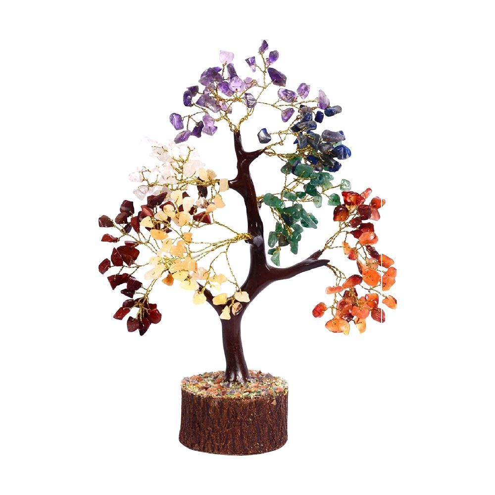 Vie Naturals Seven Chakra Tree, 300 Beads, 25cm, Art & Crafting Materials by Global 1st