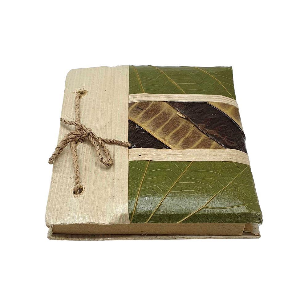 Vie Naturals Handmade Blank Notebook Crafted from Natural Materials, 10x12cm