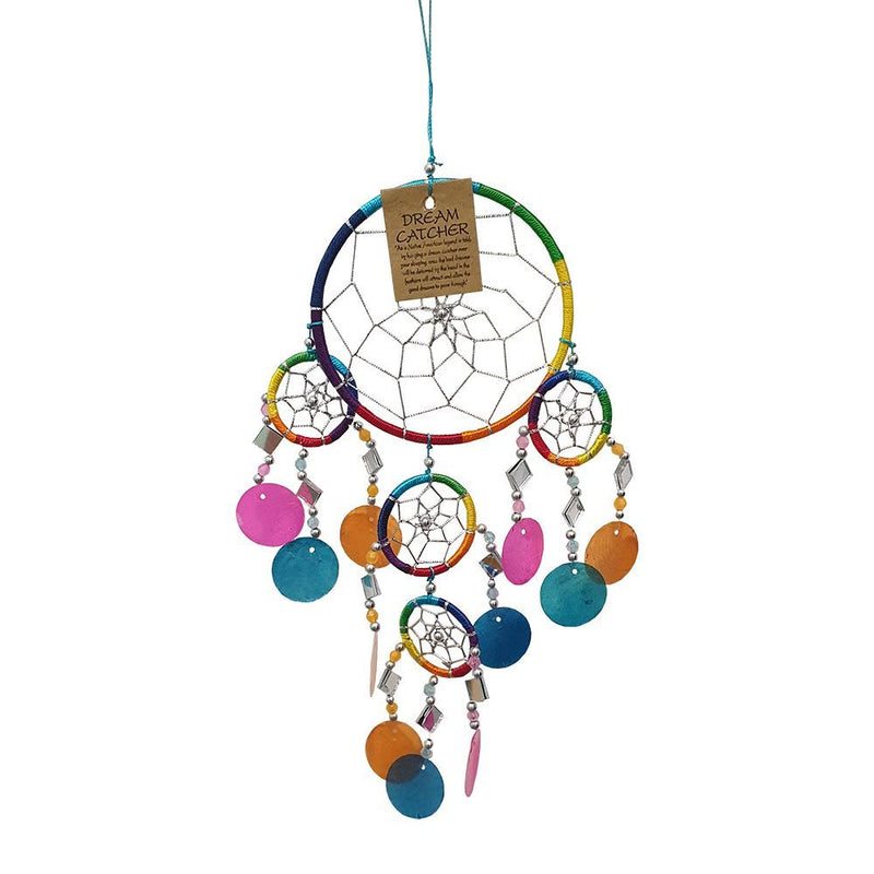Vie Naturals Capiz Dream Catcher, No Feathers, 12cm