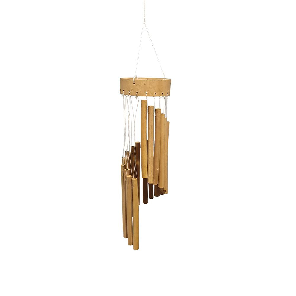 Vie Naturals Tubular Bamboo Wind Chimes, 35cm