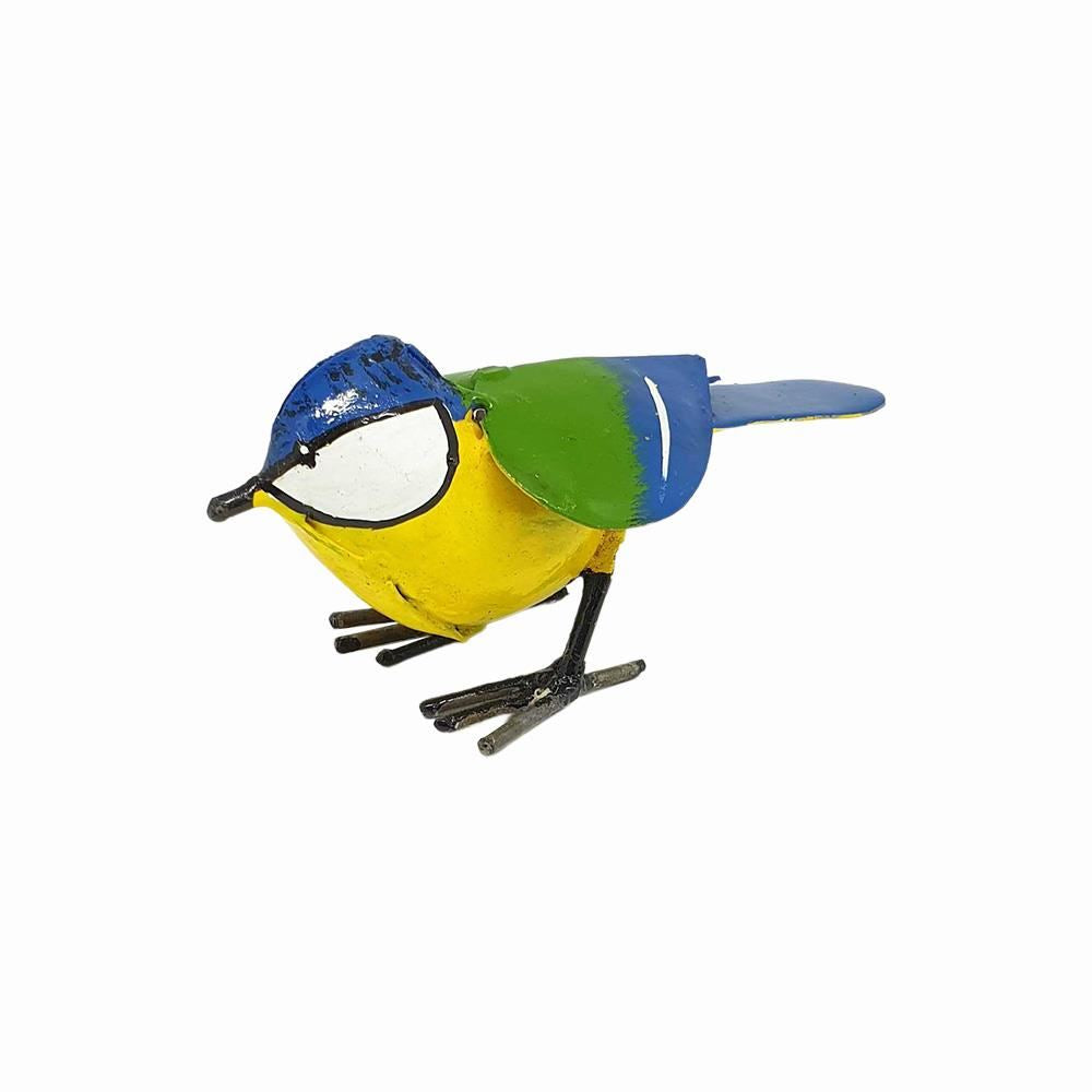 Vie Naturals Small Recycled Metal Bird Sculpture, Bluetit 11cm by  Global 1st