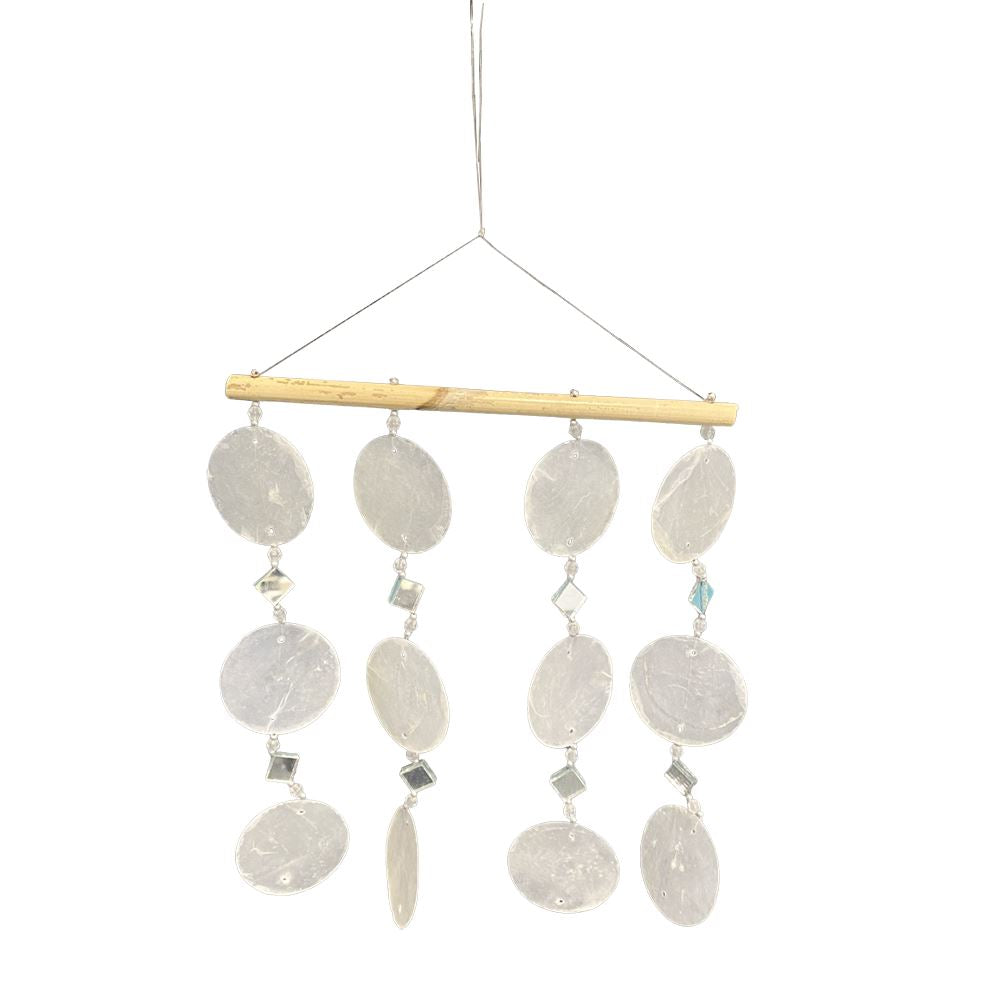Vie Naturals Small Capiz Windchime, Natural