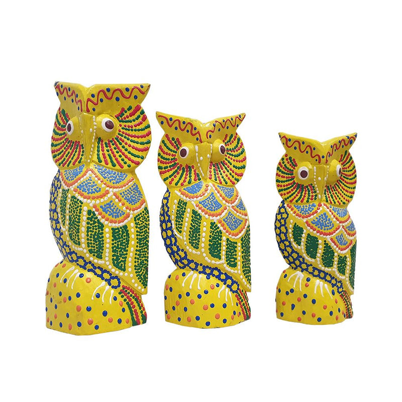 Vie Naturals Abstract Owl Carving