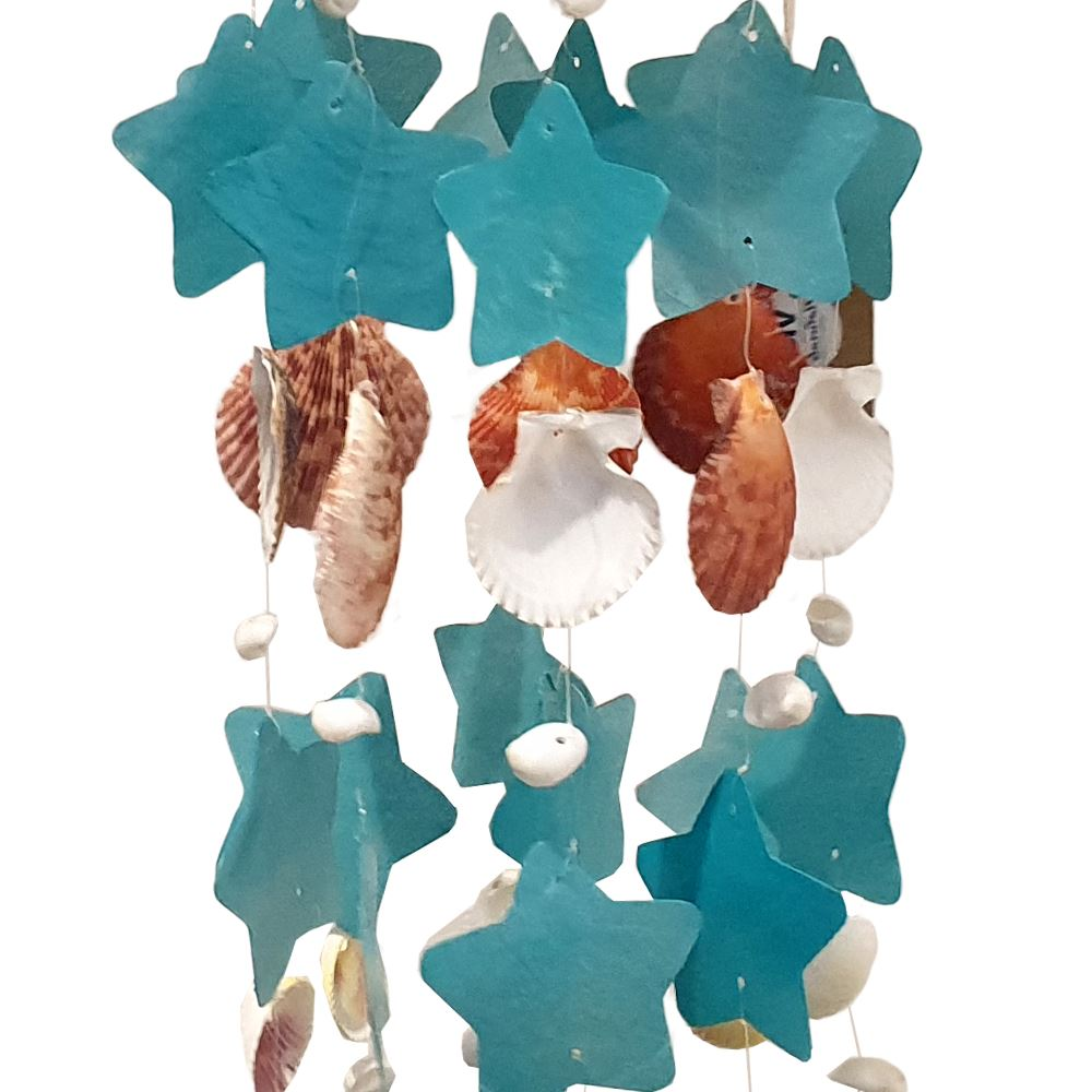 Vie Naturals Capiz & Seashell Wind Chime, 55cm Hanging Height by  Global 1st