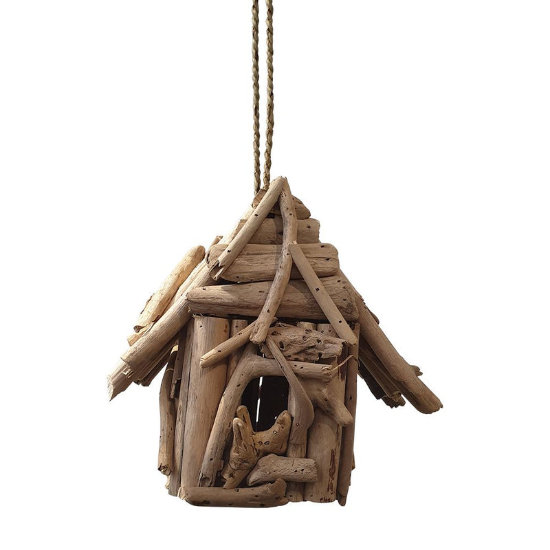 Vie Naturals Bird Feeder/House, Driftwood, Square, 35cm