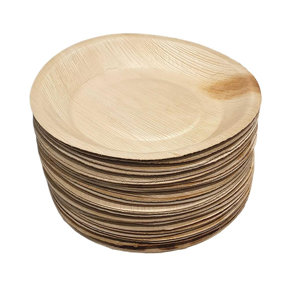 Vie Gourmet - Biodegradable Round Palm Leaf Plate 24cm Natural - 25 Pack by  Global 1st