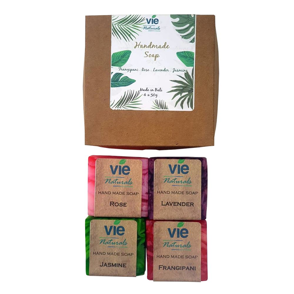 Vie Naturals Bali Natural Soap Bar, Gift Set, Assorted Blends