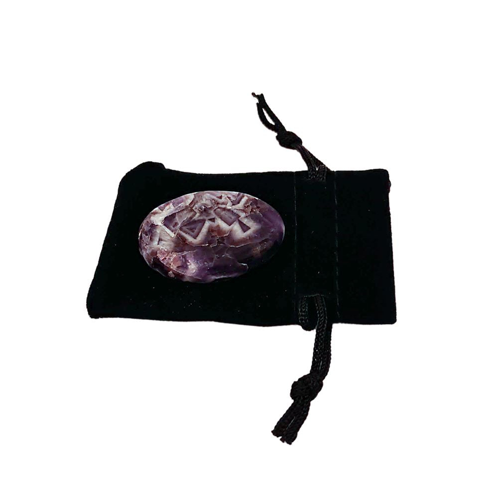 Vie Naturals Worry Thumb Stone, Amethyst, Art & Crafting Materials by Global 1st