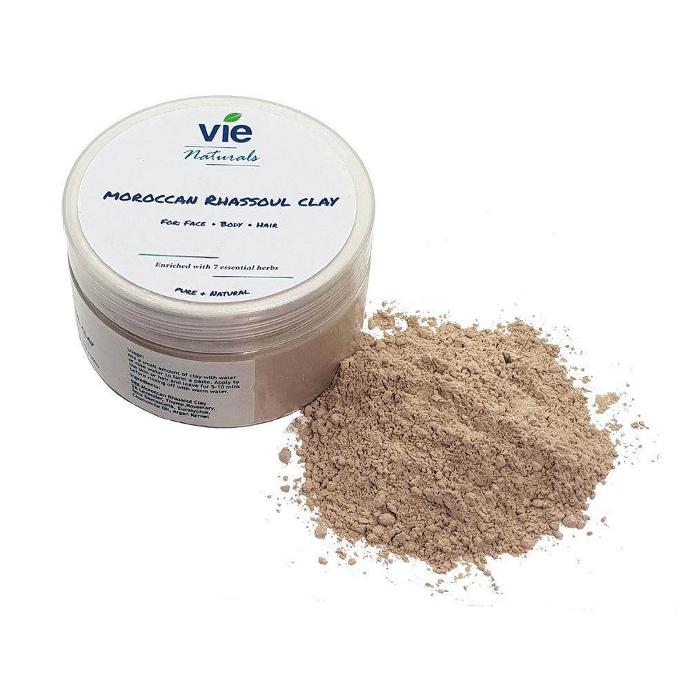 Vie Naturals Moroccan Hammam Rhassoul with a Coconut Spoon, Health & Beauty by Global 1st