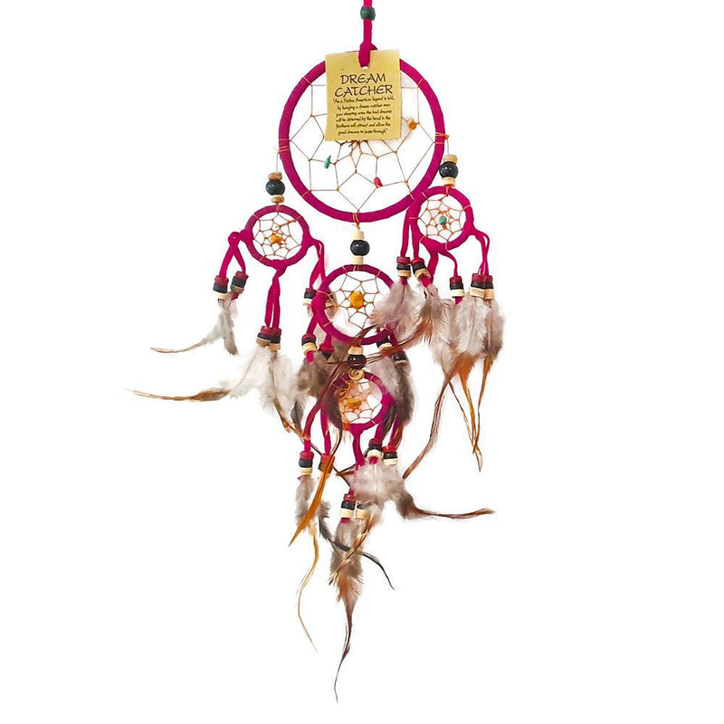 Vie Naturals Dream Catcher, Beaded, 9cm, 4 Smaller Rings