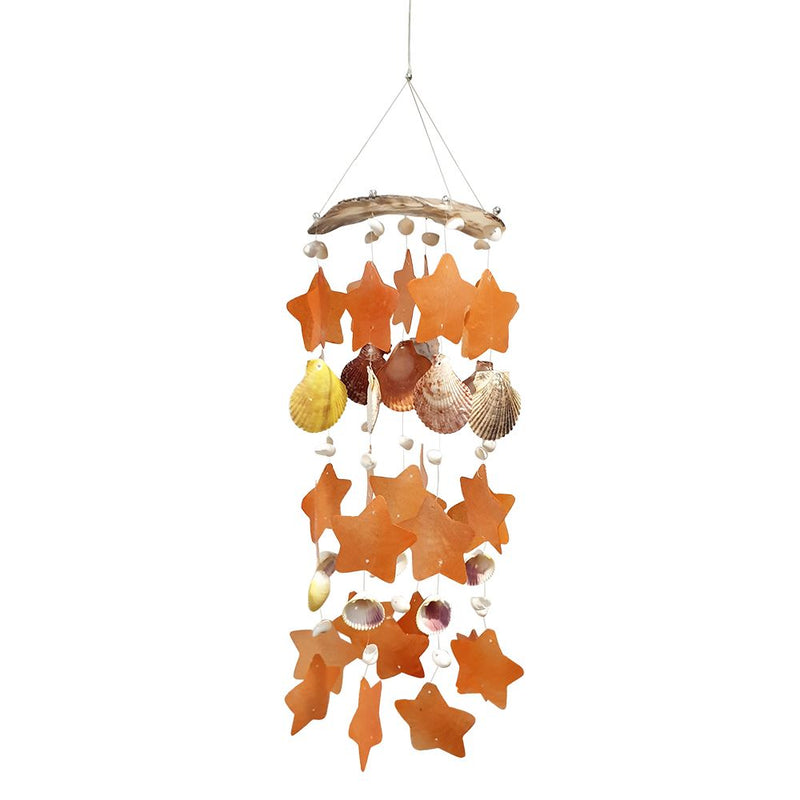 Vie Naturals Capiz & Seashell Wind Chime, 55cm Hanging Height