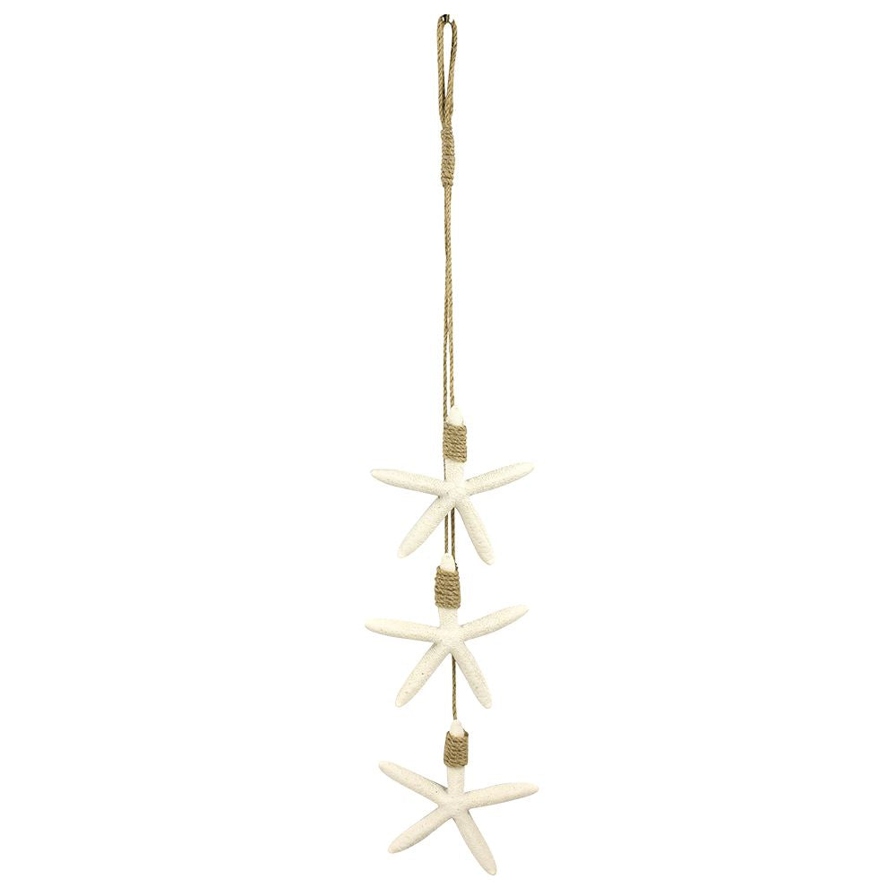 Vie Naturals Starfish Hanging D�cor, Three Starfish, White, 60cm