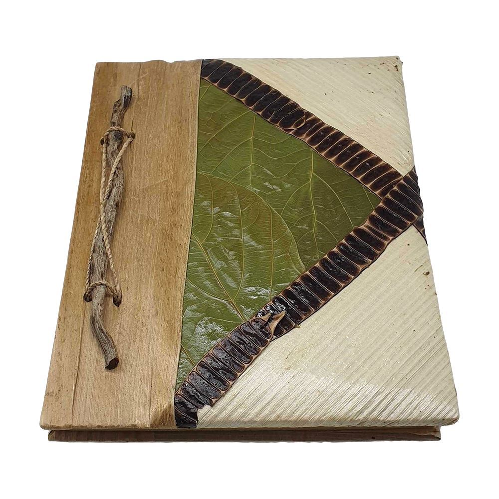 Vie Naturals Handmade Blank Notebook Crafted from Natural Materials, 14x18cm