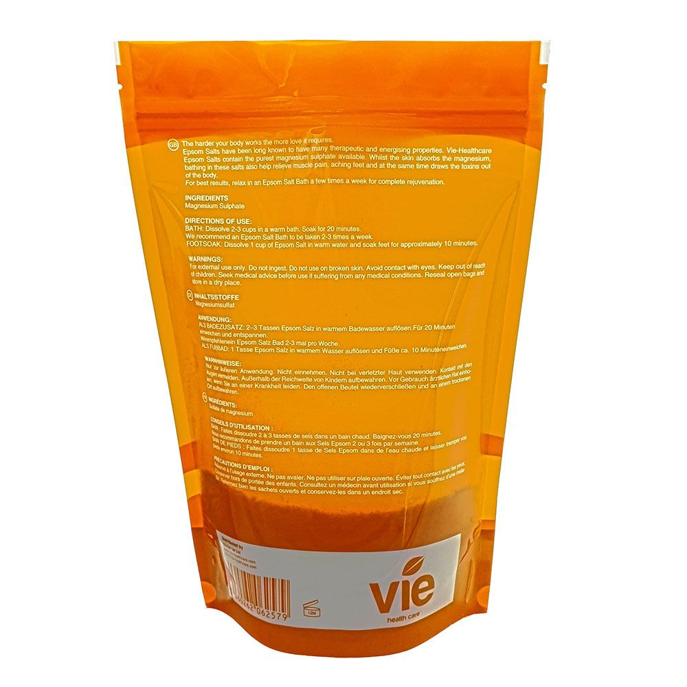 Vie Healthcare Epsom Salts, Resealable Pouch by  Global 1st