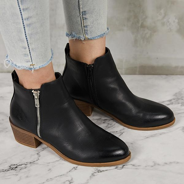 Valuedshoes Leather Suede Vintage Boots