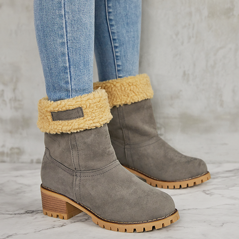 Valuedshoes Winter Shoes Fur Warm Snow Boot