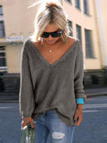 Valuedshoes Wide V Neck Over-Sized Sweater