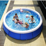 Valuedshoes Outdoor Inflatable Swimming Pool Anti-exposure Anti-crack Round Family Water Park Pool for Children Adults