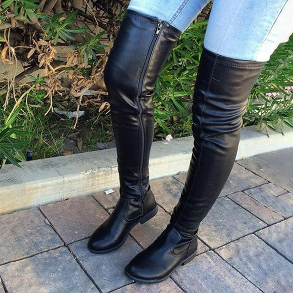 Valuedshoes Trendy Over The Knee Long Boots