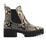 Valuedshoes Womens Slip on Animal Print Platform Boots