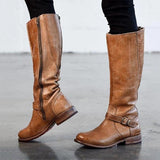 Valuedshoes Women Mid-calf Side Zipper Pointed Toe Boots