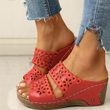 Valuedshoes Open Toe Hollow Out Wedge Sandals