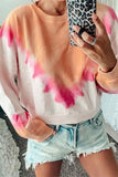 Valuedshoes Round neck triangle print gradient long sleeve Sweatshirt