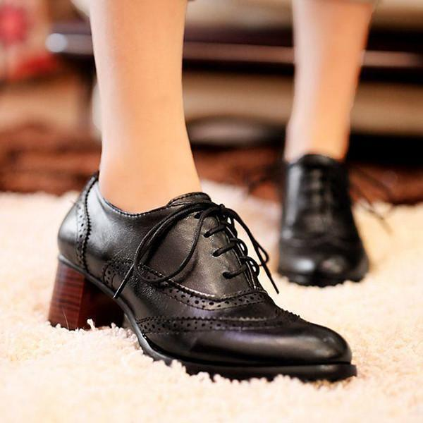 Valuedshoes British Style Carved Classy Lace Up Oxford Shoes