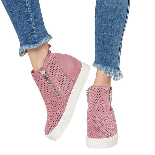 Valuedshoes Platform Side Zipper Sneakers