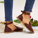 Valuedshoes Women Casual Slip On Ankle Buckle Flats