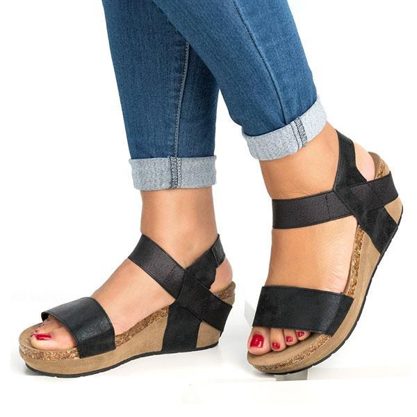 Valuedshoes Low Heel Wedge Sandals